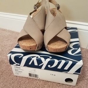 Lucky Brand cork wedge Sandal